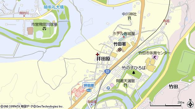大分県竹田市拝田原305周辺の地図