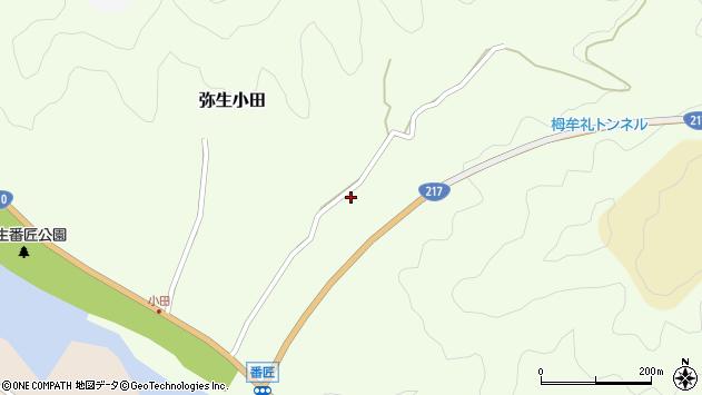 大分県佐伯市弥生大字小田829周辺の地図
