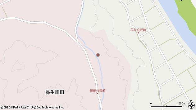 大分県佐伯市弥生大字細田1647周辺の地図