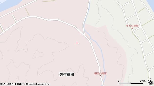 大分県佐伯市弥生大字細田977周辺の地図