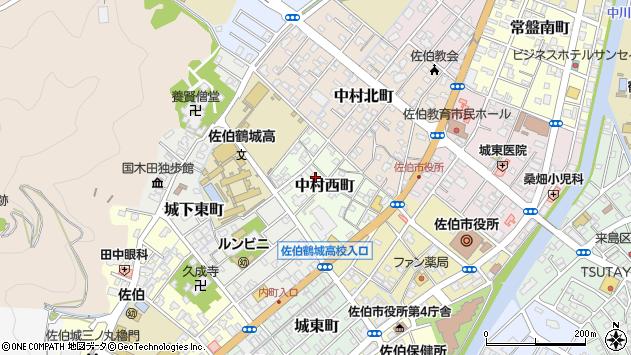 大分県佐伯市中村西町3周辺の地図