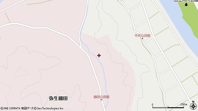大分県佐伯市弥生大字細田1667周辺の地図