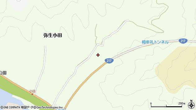 大分県佐伯市弥生大字小田816周辺の地図