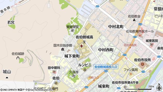 大分県佐伯市城下東町7周辺の地図