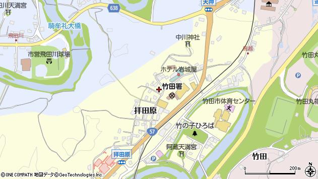 大分県竹田市拝田原327周辺の地図