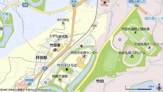 大分県竹田市拝田原195周辺の地図