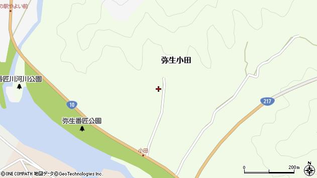 大分県佐伯市弥生大字小田391周辺の地図