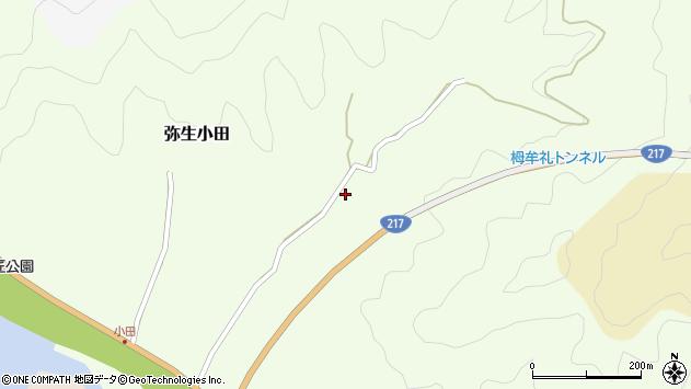 大分県佐伯市弥生大字小田807周辺の地図