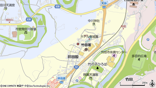 大分県竹田市拝田原339周辺の地図