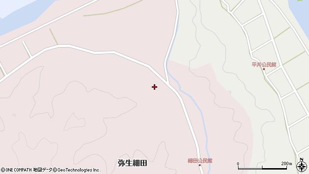 大分県佐伯市弥生大字細田972周辺の地図