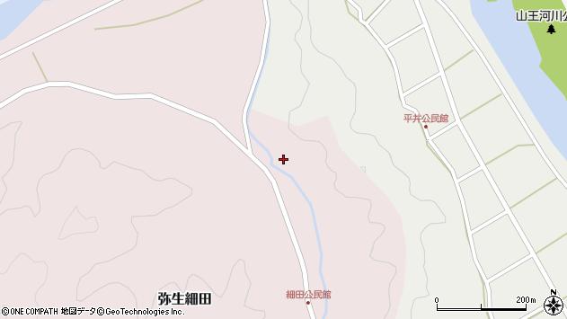 大分県佐伯市弥生大字細田1665周辺の地図