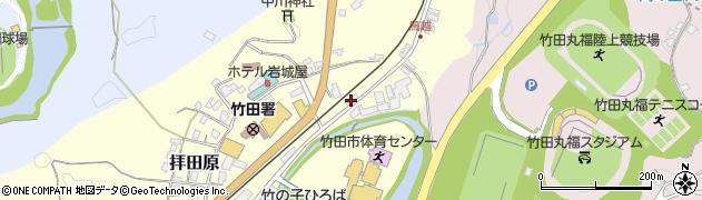 大分県竹田市拝田原199周辺の地図