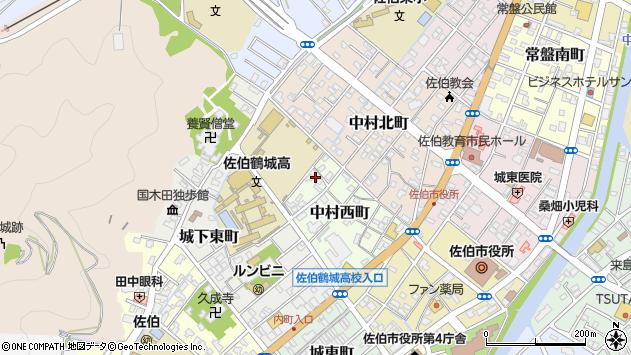 大分県佐伯市中村西町4周辺の地図