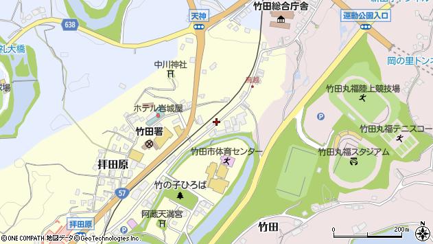 大分県竹田市拝田原197周辺の地図