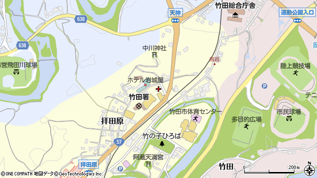大分県竹田市拝田原209周辺の地図