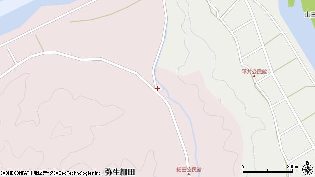 大分県佐伯市弥生大字細田966周辺の地図