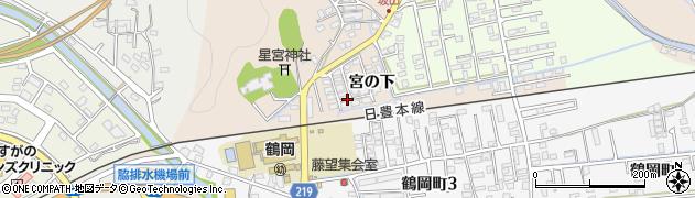 大分県佐伯市鶴望宮ノ下区周辺の地図