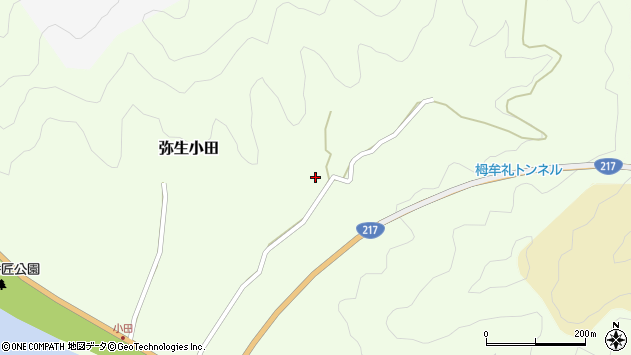 大分県佐伯市弥生大字小田571周辺の地図