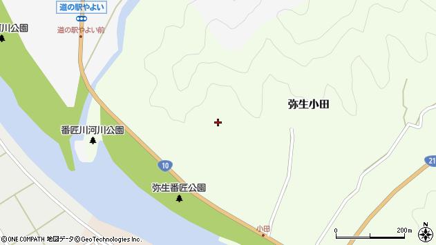 大分県佐伯市弥生大字小田108周辺の地図