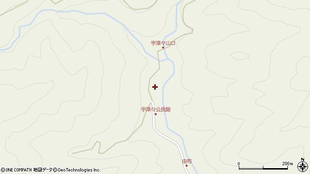 大分県佐伯市本匠大字宇津々752周辺の地図