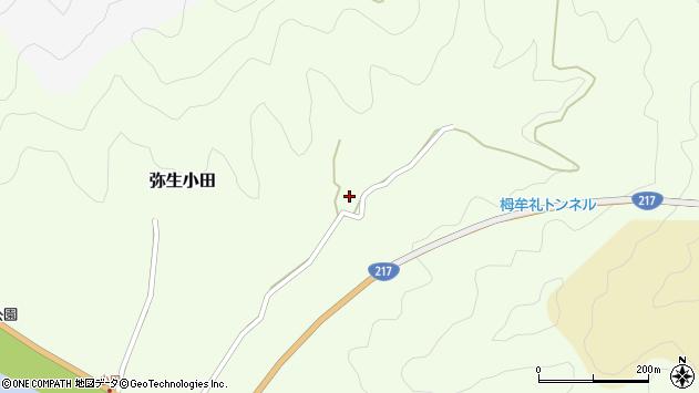 大分県佐伯市弥生大字小田614周辺の地図