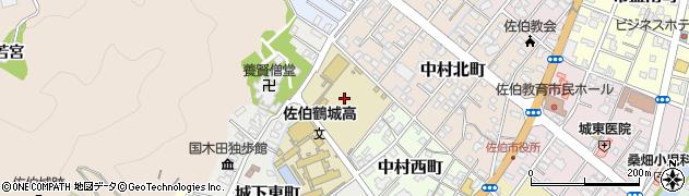 大分県佐伯市中村西町5周辺の地図