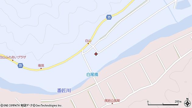 大分県佐伯市弥生大字山梨子307周辺の地図