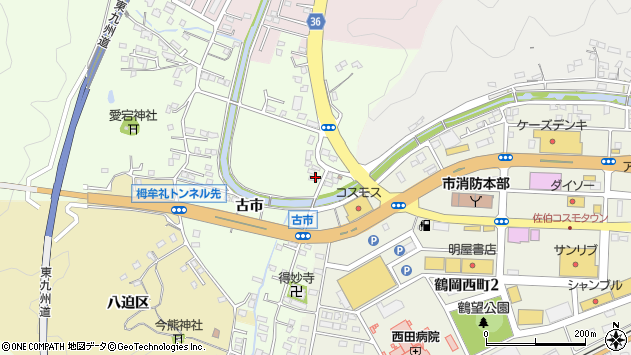 大分県佐伯市稲垣457周辺の地図