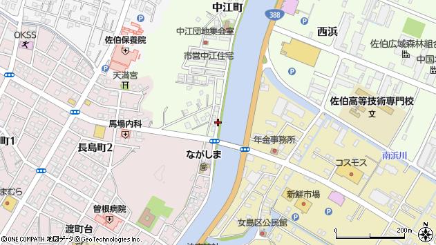 大分県佐伯市中江町1周辺の地図