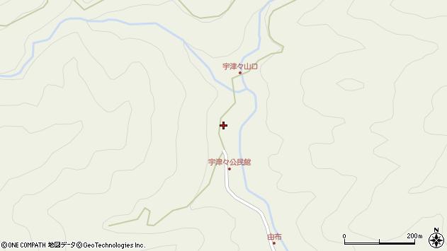 大分県佐伯市本匠大字宇津々751周辺の地図