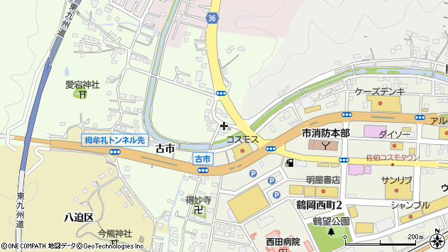 大分県佐伯市稲垣448周辺の地図