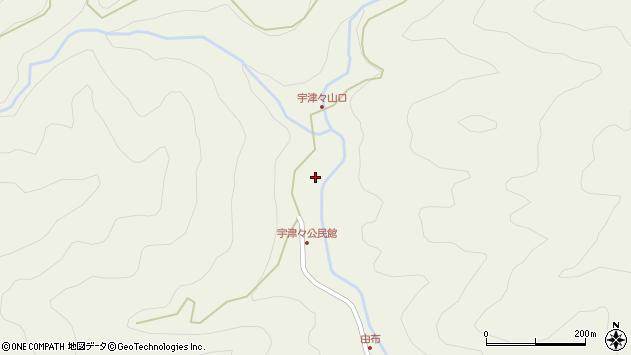 大分県佐伯市本匠大字宇津々755周辺の地図