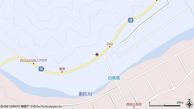 大分県佐伯市弥生大字山梨子268周辺の地図