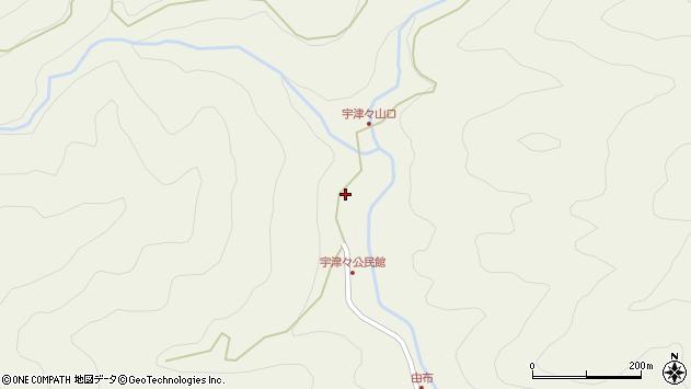 大分県佐伯市本匠大字宇津々780周辺の地図