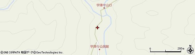 大分県佐伯市本匠大字宇津々周辺の地図