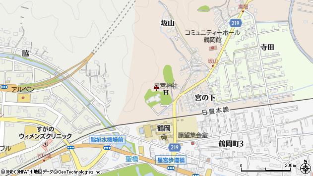 大分県佐伯市鶴望坂山区周辺の地図