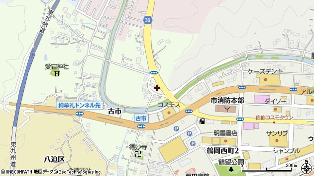 大分県佐伯市稲垣430周辺の地図