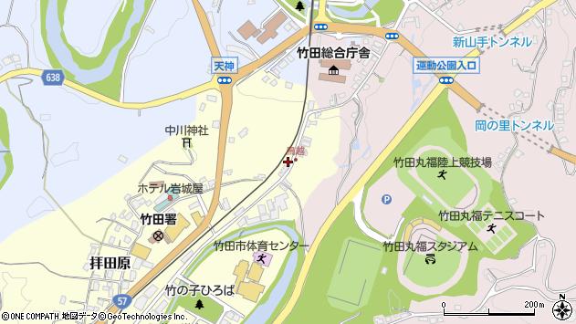 大分県竹田市拝田原83周辺の地図