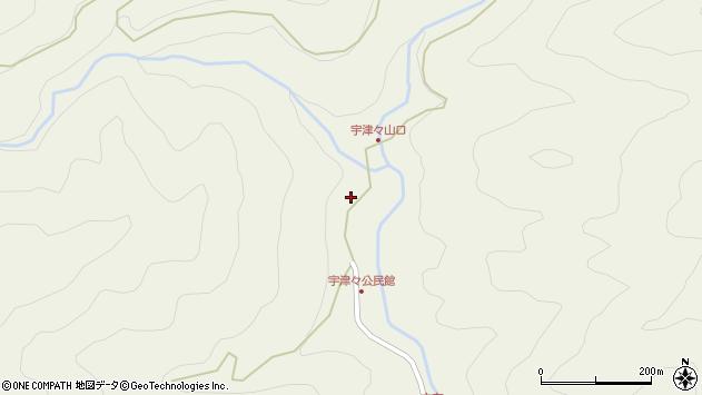 大分県佐伯市本匠大字宇津々784周辺の地図