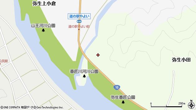 大分県佐伯市弥生大字小田1周辺の地図
