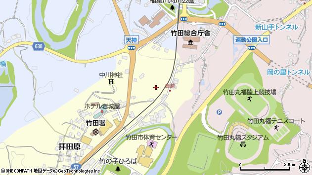 大分県竹田市拝田原鳥越周辺の地図