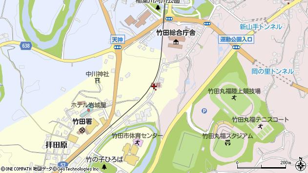大分県竹田市拝田原84周辺の地図