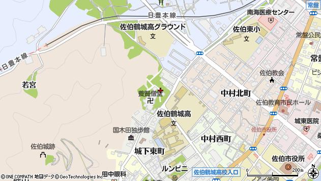 大分県佐伯市城下東町9周辺の地図