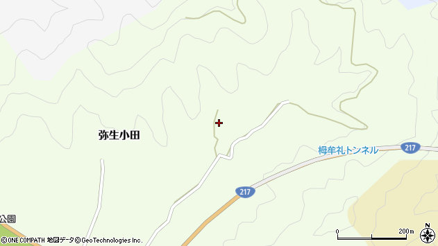 大分県佐伯市弥生大字小田585周辺の地図