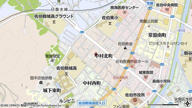 大分県佐伯市中村北町4周辺の地図