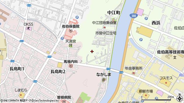 大分県佐伯市中江町中江区周辺の地図