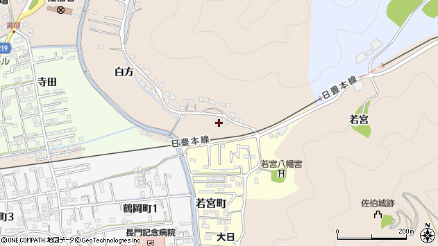 大分県佐伯市鶴望3874周辺の地図