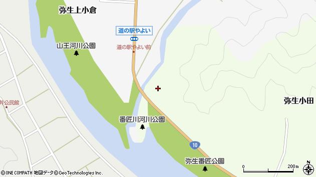 大分県佐伯市弥生大字上小倉1529周辺の地図