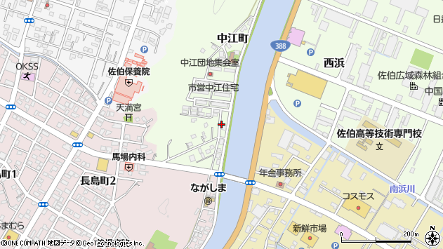 大分県佐伯市中江町2周辺の地図