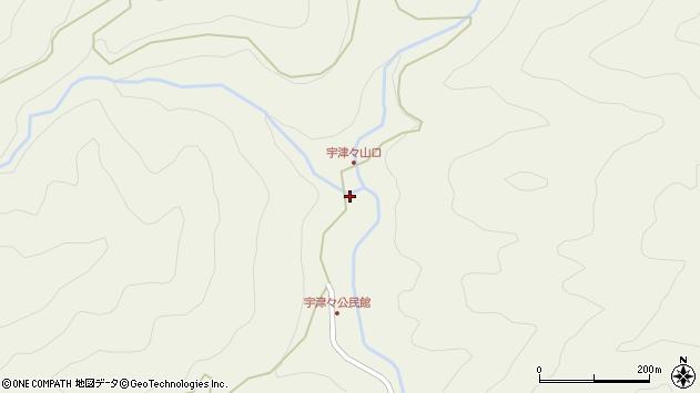 大分県佐伯市本匠大字宇津々768周辺の地図